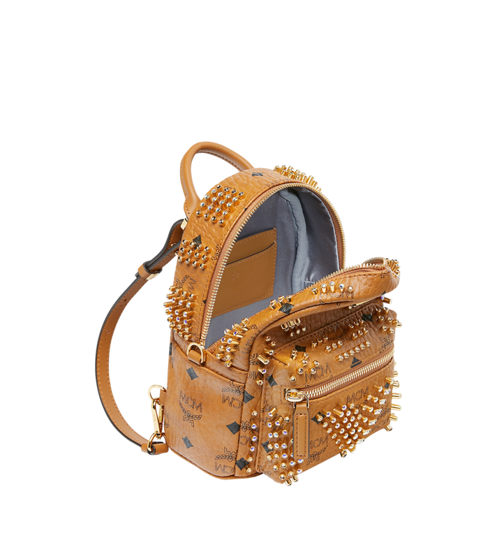 MCM Stark Bebe Boo Rucksack in Graded M Studs Cognac MMK9SVE22CO001 Alternate View 7