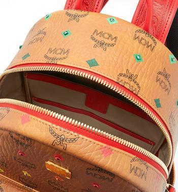 MCM Stark Backpack in Skyoptic Stud Visetos MMK9SVE30CA001 AlternateView4