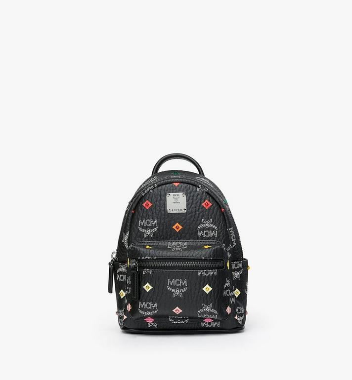 MCM Stark Bebe Boo Backpack in Skyoptic Stud Visetos MMK9SVE36BA001 AlternateView