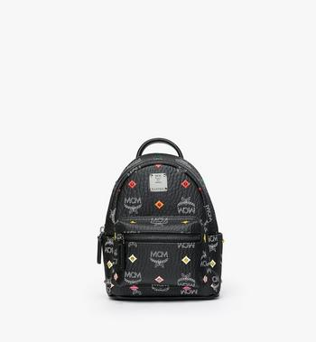 MCM Stark Bebe Boo Backpack in Skyoptic Stud Visetos Alternate View