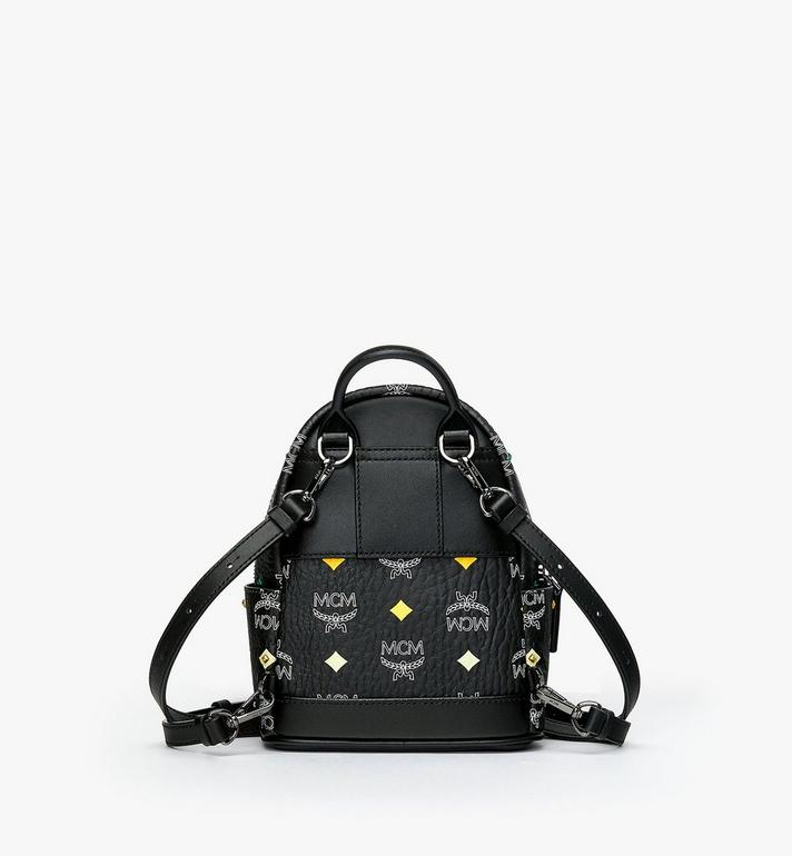 MCM Stark Bebe Boo Backpack in Skyoptic Stud Visetos Alternate View 3