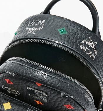 MCM Stark Bebe Boo Backpack in Skyoptic Stud Visetos Alternate View 4