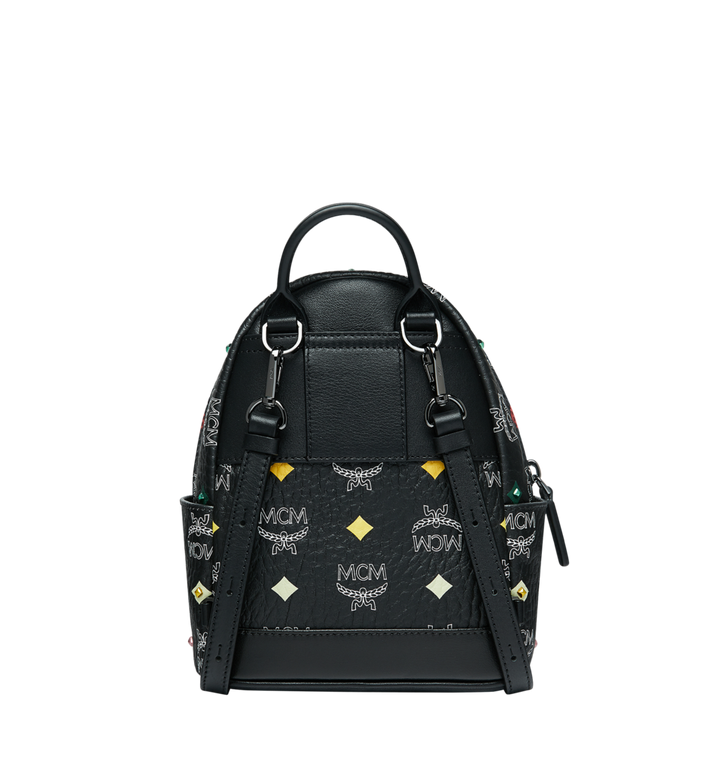 MCM Stark Bebe Boo Backpack in Skyoptic Stud Visetos Alternate View 5