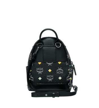 MCM Stark Bebe Boo Backpack in Skyoptic Stud Visetos Alternate View 6
