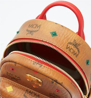 MCM Stark Bebe Boo Backpack in Skyoptic Stud Visetos MMK9SVE36CA001 AlternateView4