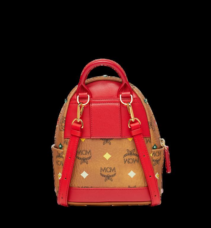 MCM Stark Bebe Boo Backpack in Skyoptic Stud Visetos Cognac MMK9SVE36CA001 Alternate View 5