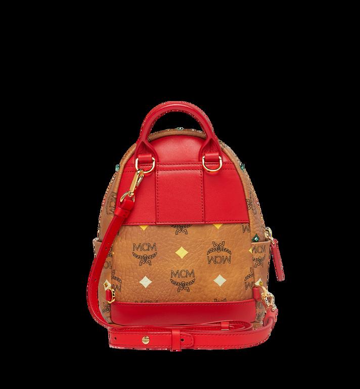 MCM Stark Bebe Boo Backpack in Skyoptic Stud Visetos Cognac MMK9SVE36CA001 Alternate View 6