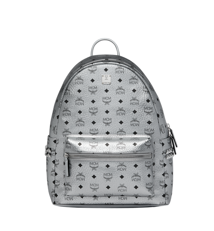 MCM Stark Side Studs Backpack in Visetos MMK9SVE42SB001 AlternateView1