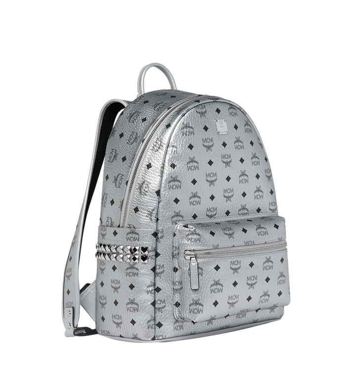 MCM Stark Side Studs Backpack in Visetos MMK9SVE42SB001 AlternateView2