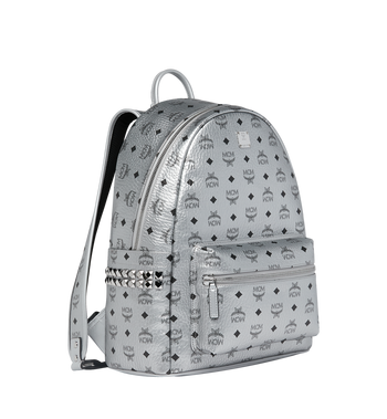 MCM Stark Side Studs Backpack in Visetos MMK9SVE42SB001 AlternateView2