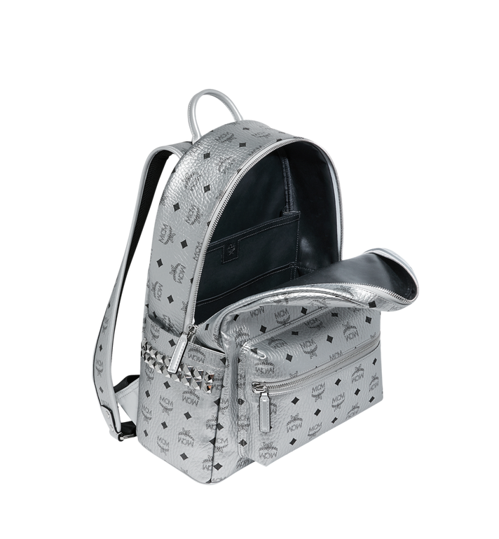 MCM Stark Side Studs Backpack in Visetos MMK9SVE42SB001 AlternateView5