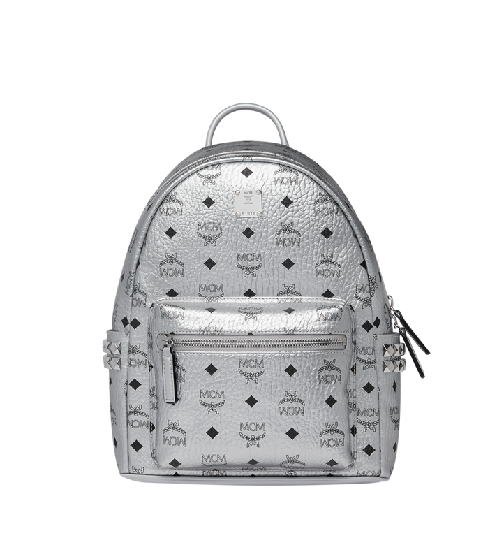 MCM Stark Side Studs Backpack in Visetos MMK9SVE43SB001 AlternateView
