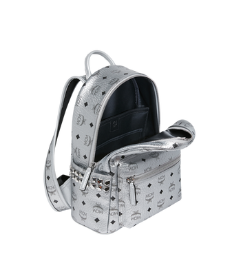MCM Stark Side Studs Backpack in Visetos MMK9SVE43SB001 AlternateView5