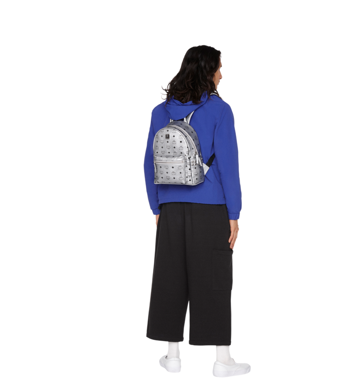 MCM Stark Side Studs Backpack in Visetos MMK9SVE43SB001 AlternateView6
