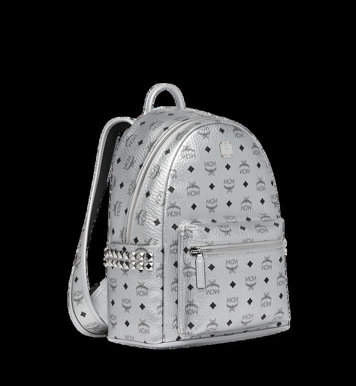 MCM Stark Side Studs Backpack in Visetos Silver MMK9SVE44SB001 Alternate View 2