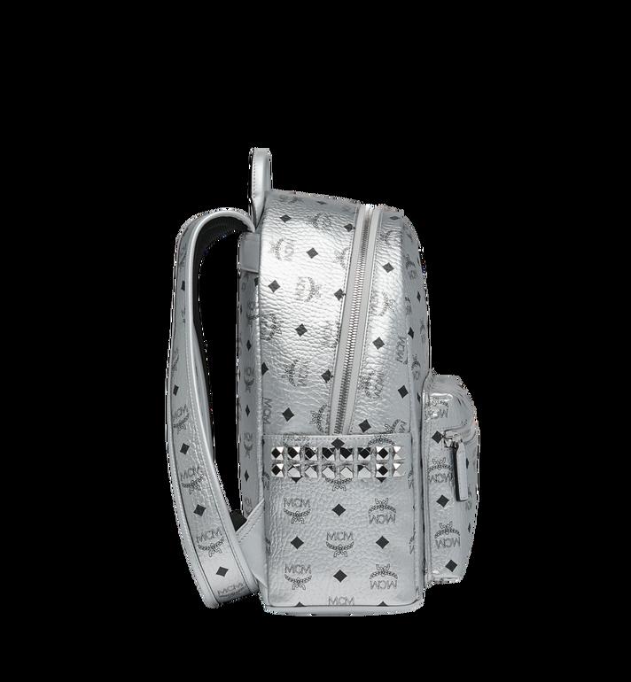 MCM Stark Side Studs Backpack in Visetos Silver MMK9SVE44SB001 Alternate View 3