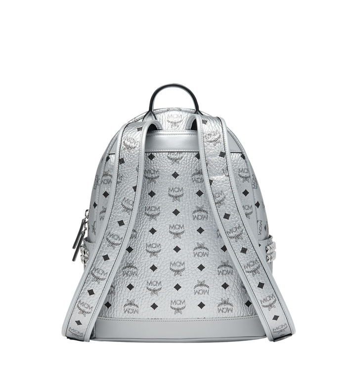 MCM Stark Side Studs Backpack in Visetos Silver MMK9SVE44SB001 Alternate View 4