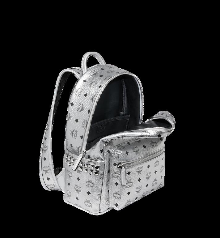 MCM Stark Side Studs Backpack in Visetos Silver MMK9SVE44SB001 Alternate View 5