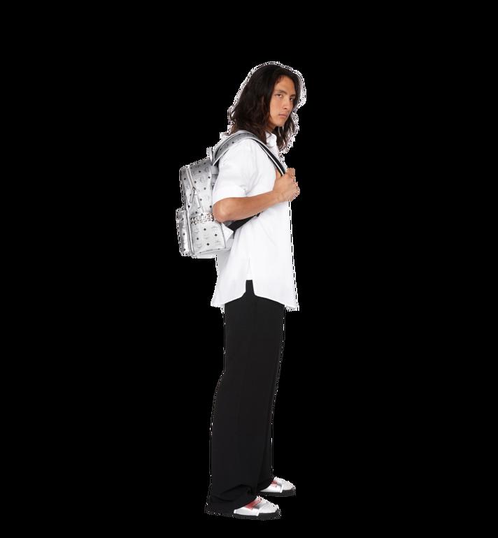 MCM Stark Side Studs Backpack in Visetos Silver MMK9SVE44SB001 Alternate View 6