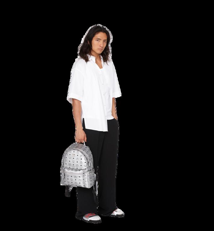 MCM Stark Side Studs Backpack in Visetos Silver MMK9SVE44SB001 Alternate View 7