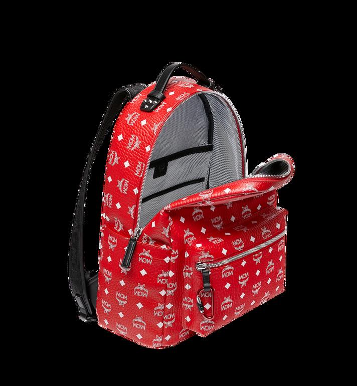 MCM Stark Backpack in White Logo Visetos Red MMK9SVE48AV001 Alternate View 5