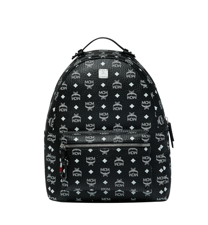 MCM Stark Backpack in White Logo Visetos MMK9SVE48BV001 AlternateView1