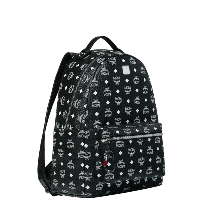 MCM Stark Backpack in White Logo Visetos MMK9SVE48BV001 AlternateView2