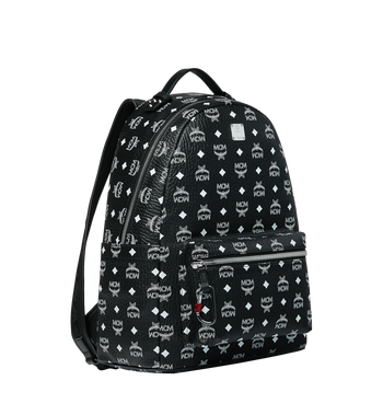 MCM Stark Backpack in White Logo Visetos Alternate View 2