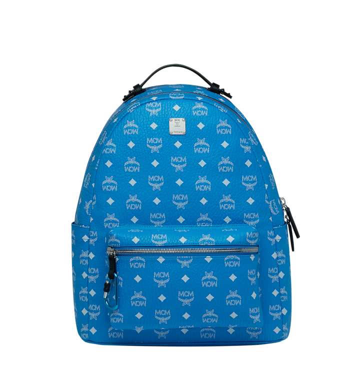 03251664d3 40 cm   16 in Stark Backpack in White Logo Visetos T. Blue