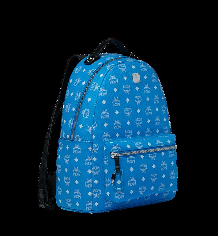 MCM Stark Backpack in White Logo Visetos Alternate View 2