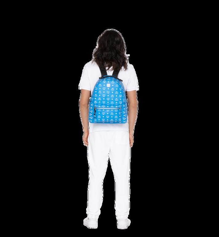 MCM Stark Backpack in White Logo Visetos Alternate View 6