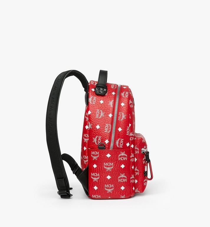MCM Stark Backpack in White Logo Visetos MMK9SVE49AV001 AlternateView2