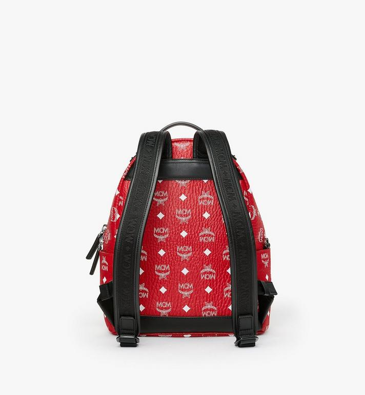 MCM Stark Backpack in White Logo Visetos MMK9SVE49AV001 AlternateView3