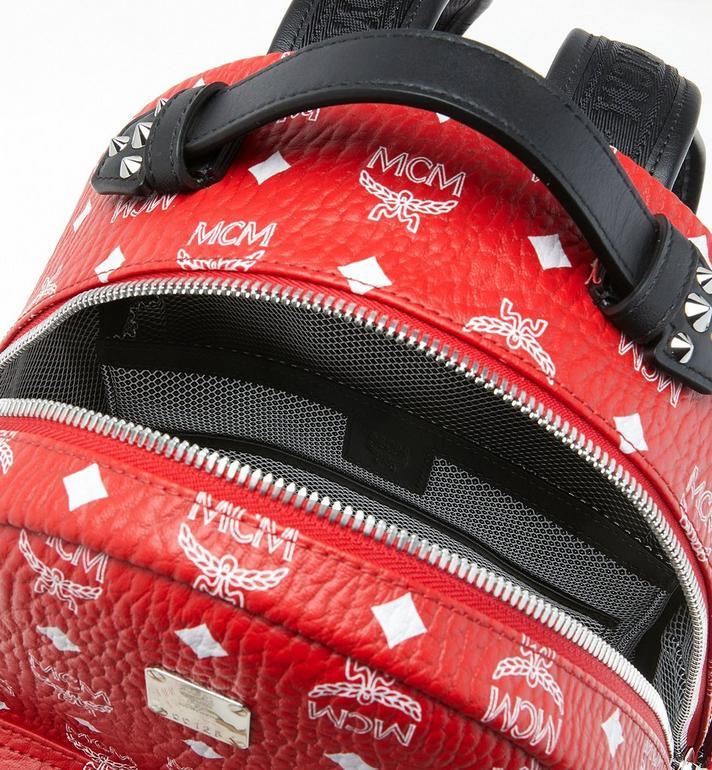 MCM Stark Backpack in White Logo Visetos MMK9SVE49AV001 AlternateView4