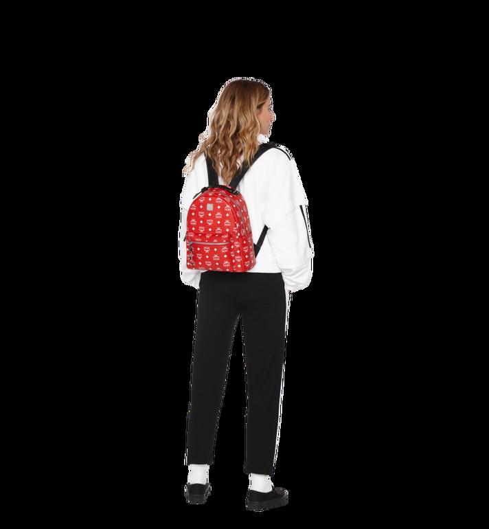 MCM Stark Backpack in White Logo Visetos MMK9SVE49AV001 AlternateView6