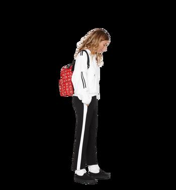 MCM Stark Backpack in White Logo Visetos MMK9SVE49AV001 AlternateView7