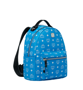 MCM Stark Backpack in White Logo Visetos MMK9SVE49HI001 AlternateView2
