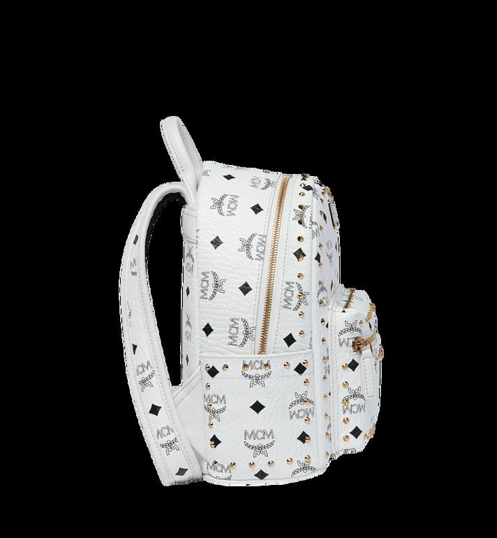MCM Stark Backpack in Studded Outline Visetos White MMK9SVE62WT001 Alternate View 3