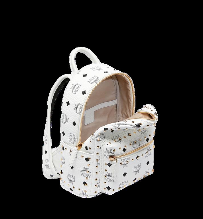 MCM Stark Backpack in Studded Outline Visetos White MMK9SVE62WT001 Alternate View 5