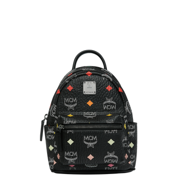 MCM Stark Bebe Boo Backpack in Skyoptic Visetos Alternate View 1