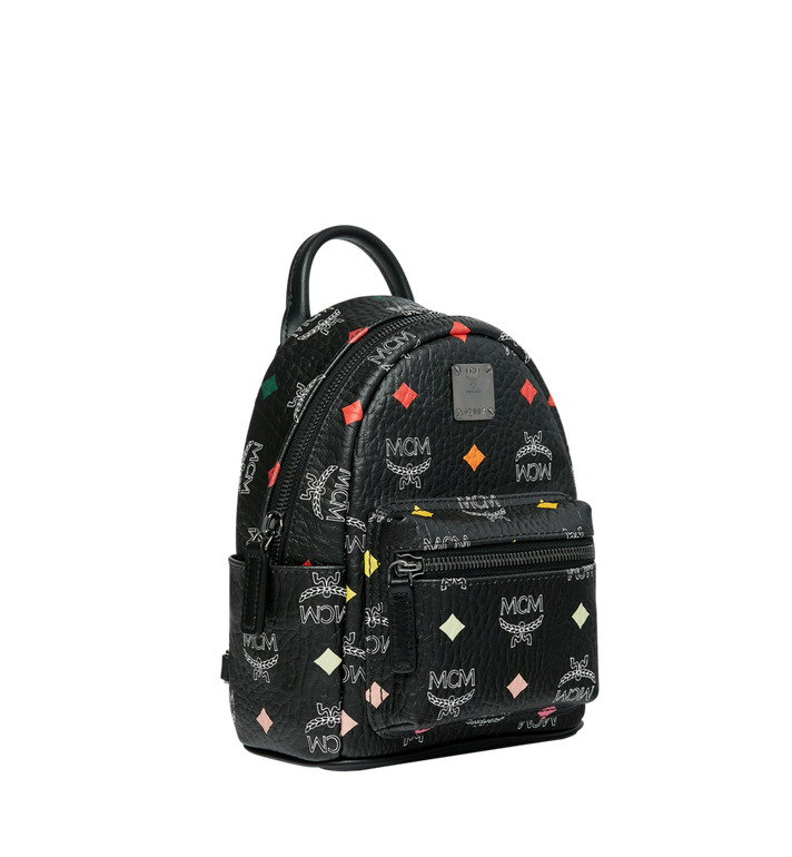 MCM Stark Bebe Boo Backpack in Skyoptic Visetos AlternateView2
