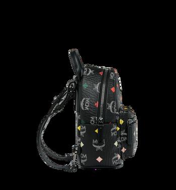 MCM Stark Bebe Boo Backpack in Skyoptic Visetos AlternateView4