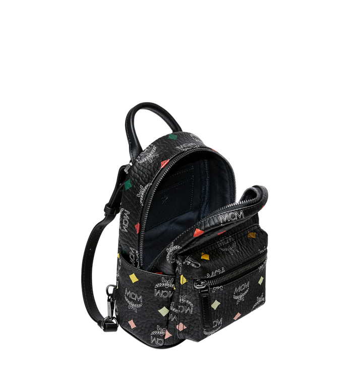 MCM Stark Bebe Boo Backpack in Skyoptic Visetos Alternate View 7