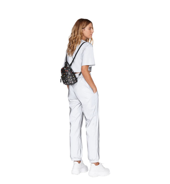 MCM Stark Bebe Boo Backpack in Skyoptic Visetos AlternateView8