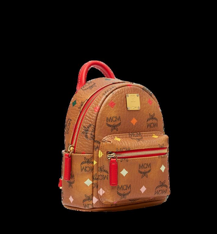 MCM Stark Bebe Boo Backpack in Skyoptic Visetos Cognac MMK9SVE69CA001 Alternate View 2