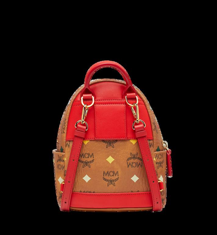 MCM Stark Bebe Boo Backpack in Skyoptic Visetos Cognac MMK9SVE69CA001 Alternate View 5