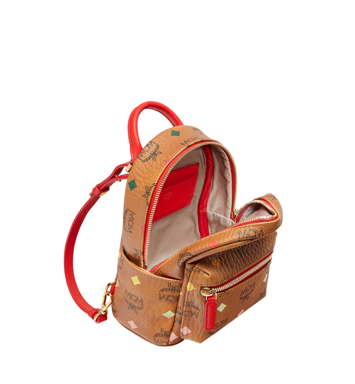 MCM Stark Bebe Boo Backpack in Skyoptic Visetos Cognac MMK9SVE69CA001 Alternate View 7