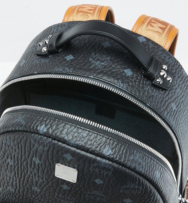 MCM Stark Backpack in Visetos MMK9SVE73BK001 AlternateView4
