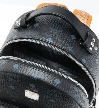 MCM Stark Backpack in Visetos MMK9SVE74BK001 AlternateView4