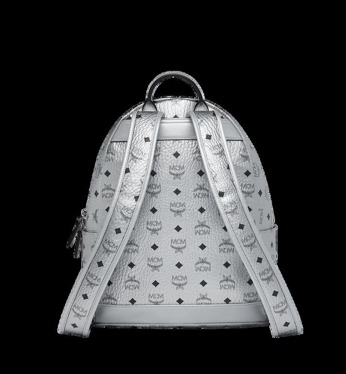 MCM Trilogie Stark Backpack in Visetos Silver MMK9SVE75SB001 Alternate View 4